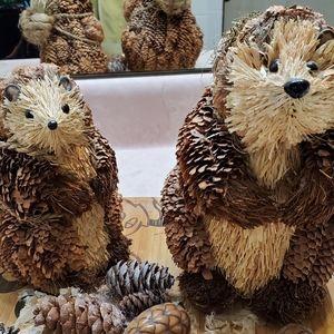 Harvest Sisal Woodland Hedgehog Pair